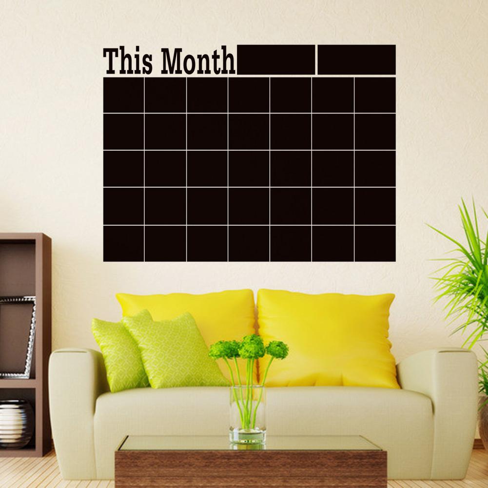 Diy Wall Decor Chalkboard : Monthly chalkboard board blackboard wall sticker decor