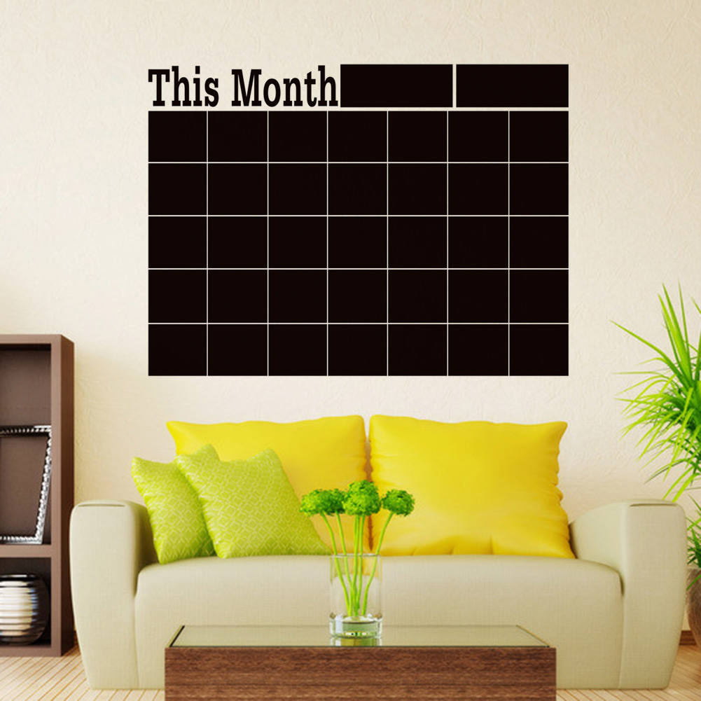 Monthly chalkboard Board Blackboard Wall Sticker Decor ...