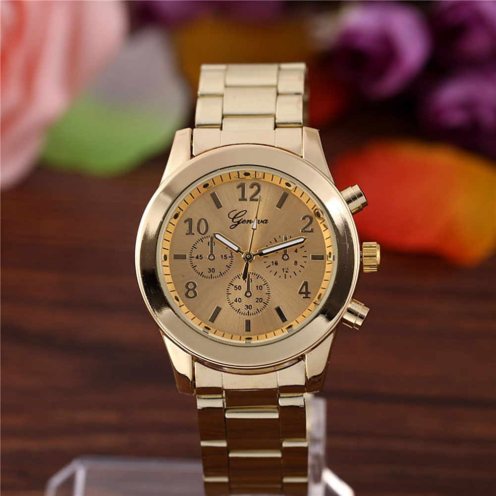 Fashion men geneva unisex stainless steel analog quartz wrist watch sport ebay for Watches geneva