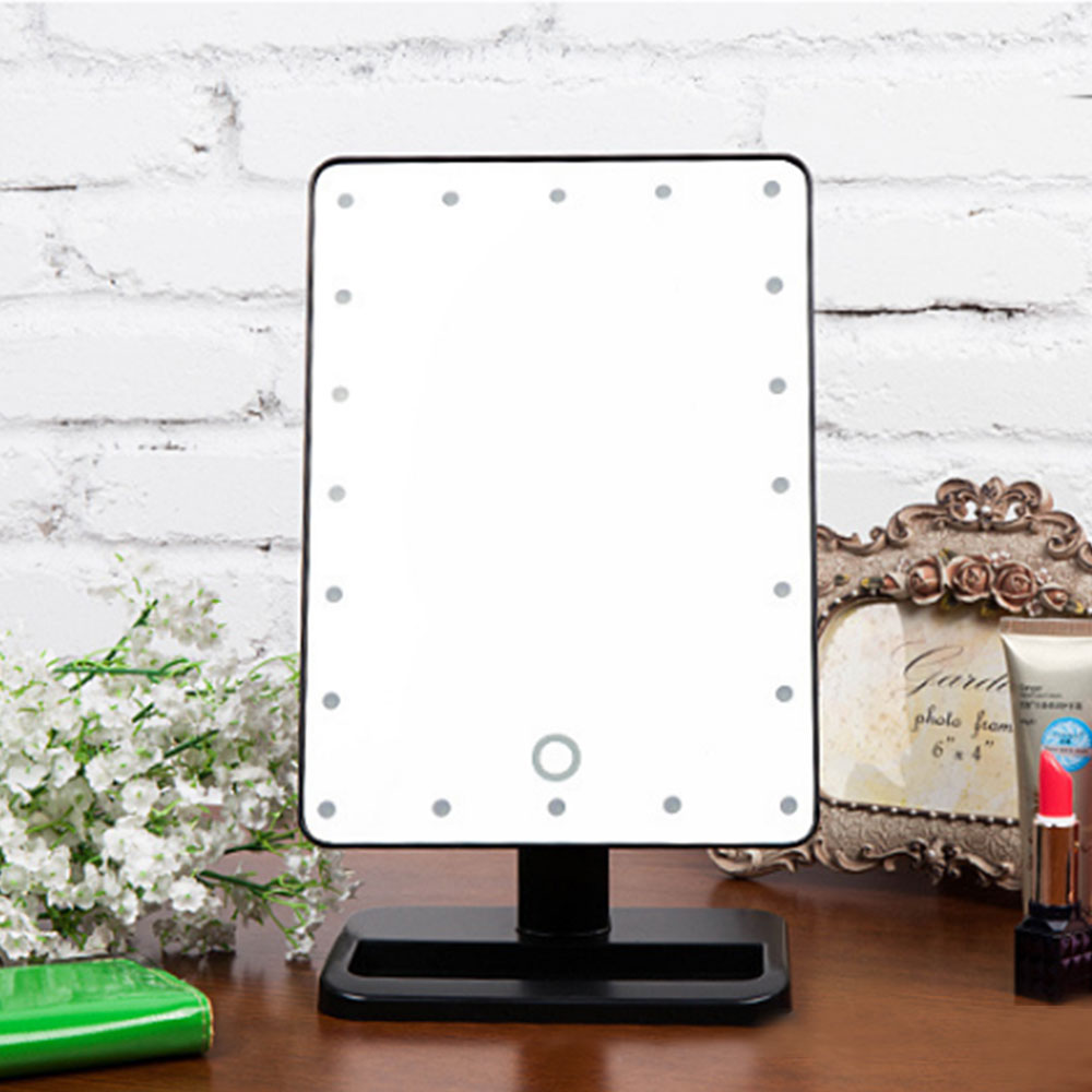 Make Up Vanity Illuminated Desktop Table Makeup Stand Mirror With 21 LED Ligh