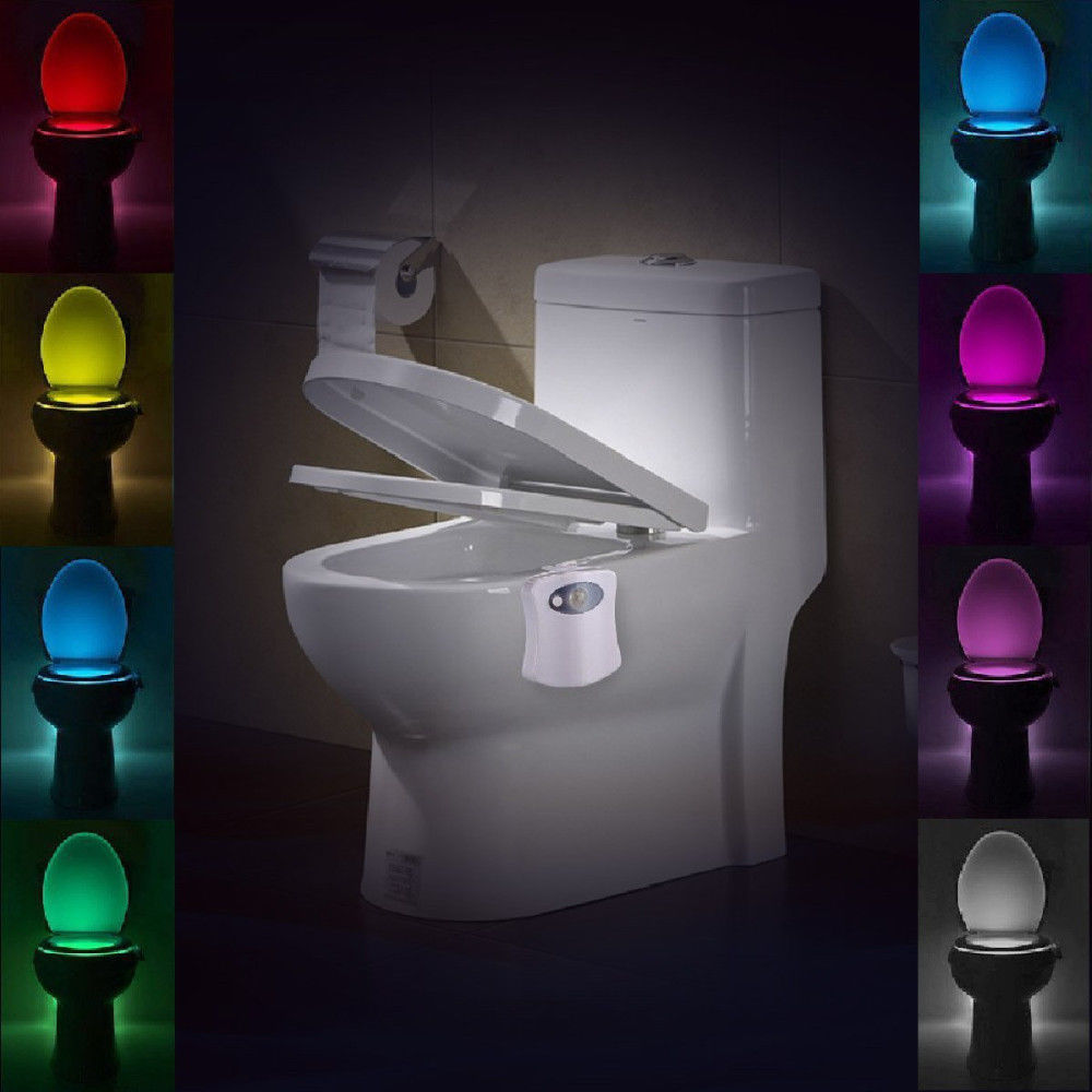 8color led sensor motion activated bathroom toilet lights seat bowl battery glow ebay. Black Bedroom Furniture Sets. Home Design Ideas