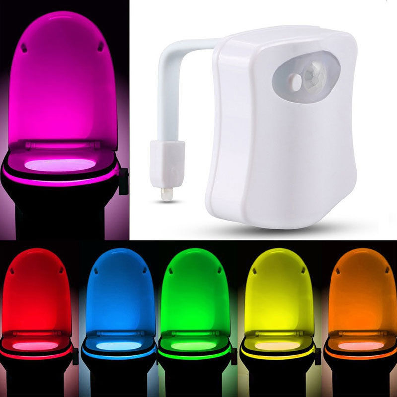 Bathroom Lighting Motion Sensor: LED Toilet Bathroom Night Light Human Motion Activated