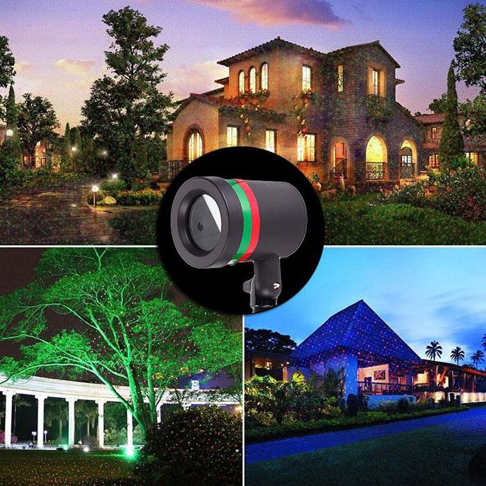 Outdoor Xmax Stars Laser Spotlight Light Park Garden Christmas Decor Chrismas