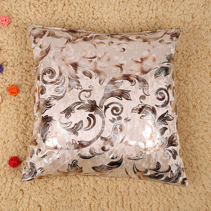 Silver Decorative Bed Pillows : Fashion Silver Floral Sofa Bed Pillow Case Decorative Cushion Cover Gift eBay