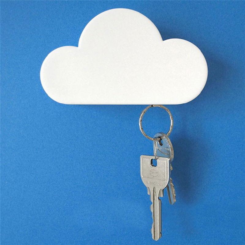 Cute Cloud Shaped Key Holder Magnetic Hallway Wall Mounted