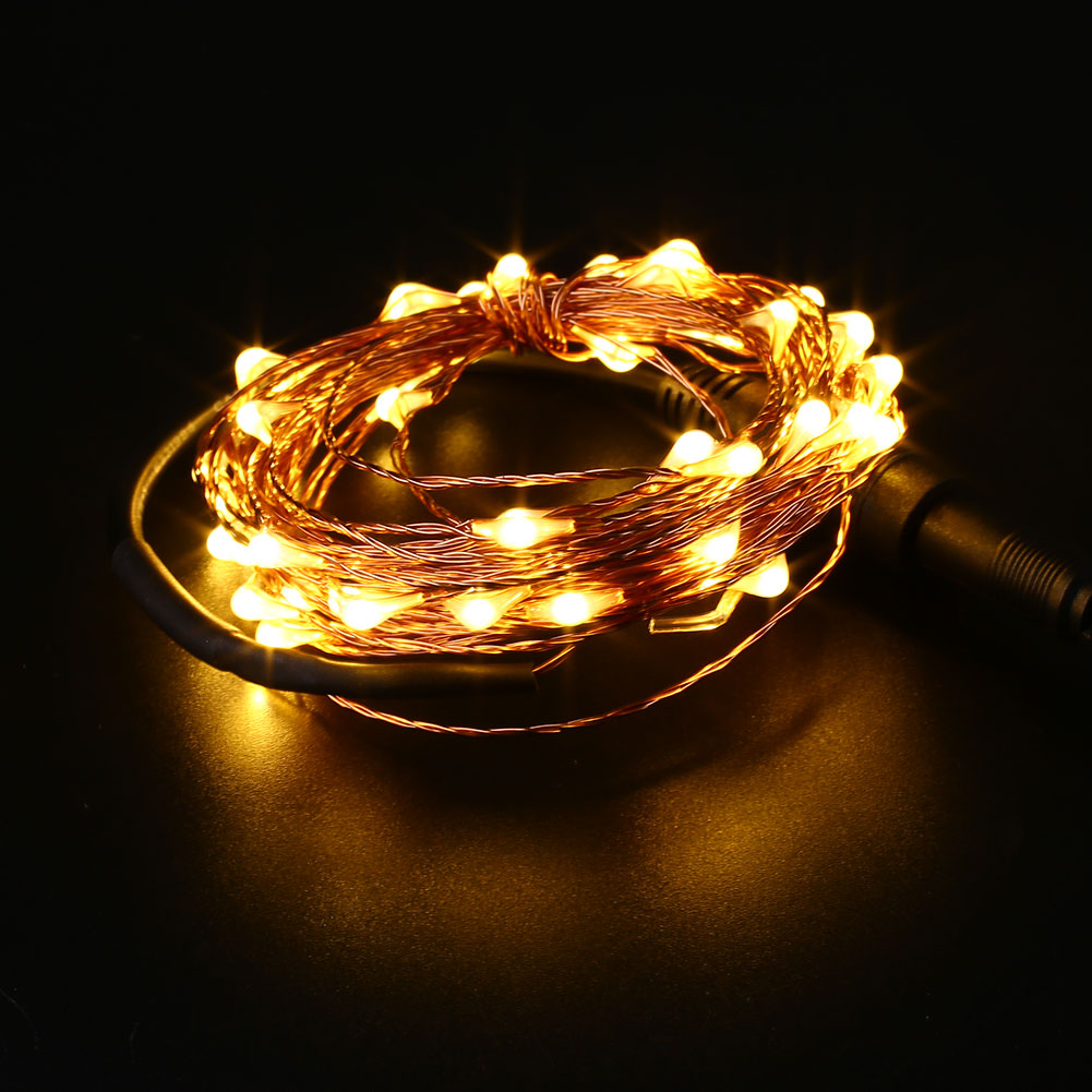 10m led dc copper wire string strip fairy light usb. Black Bedroom Furniture Sets. Home Design Ideas