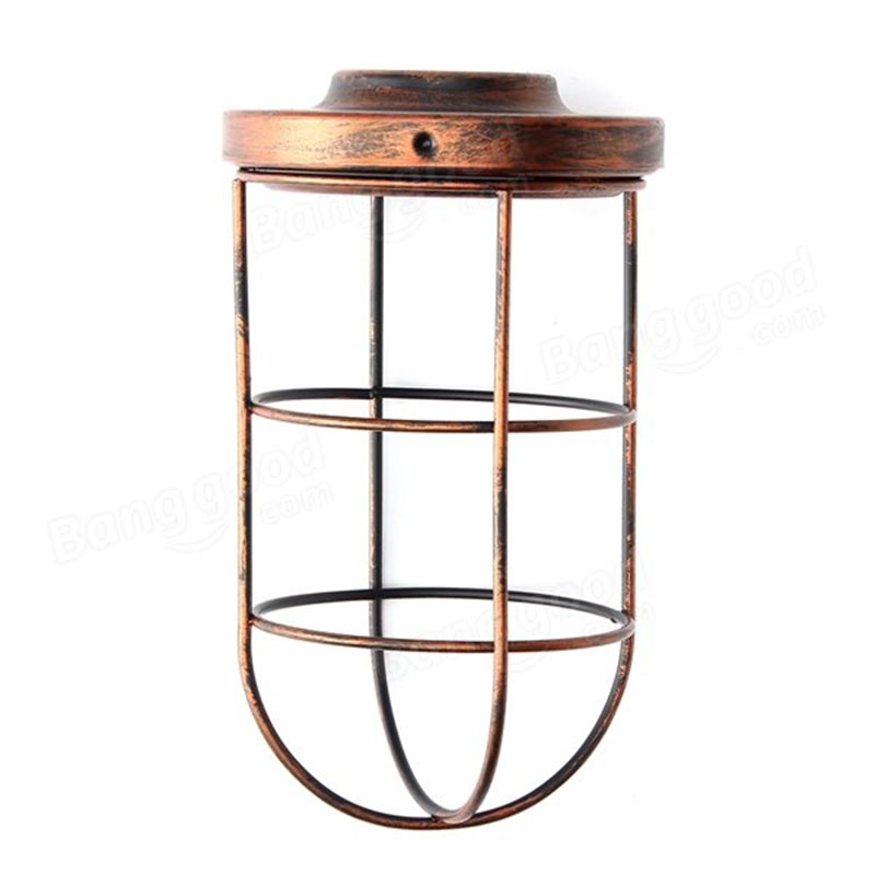 Ceiling Light Bulb Guard : Bulb cage guard iron vintage ceiling pendant shade light