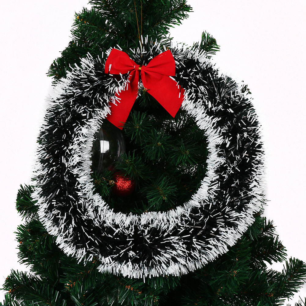 Festive 35cm christmas xmas tree decorative wreath hanging How to hang garland on a christmas tree