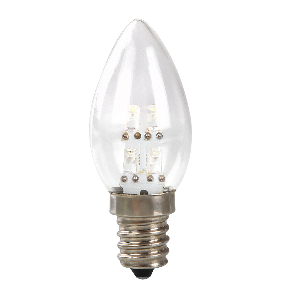 e14 led 0 5w candle light bulb lamp dc 220v 80lm white. Black Bedroom Furniture Sets. Home Design Ideas