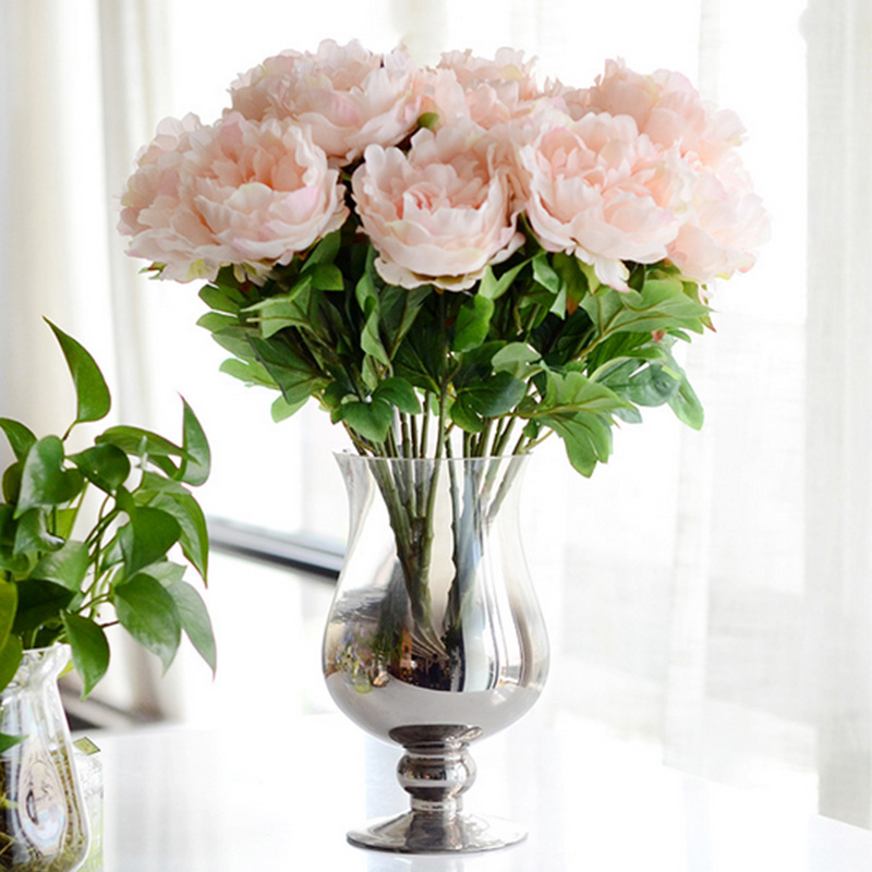Emperor Peony Bouquet Artificial Silk Flowers Wedding