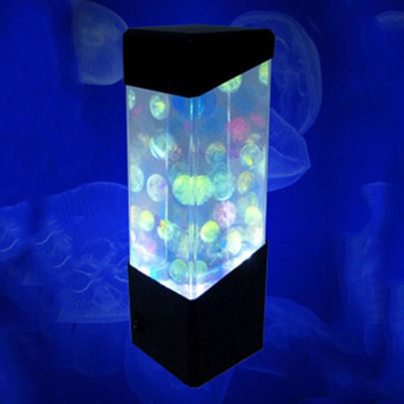 Colorful aquarium home night light led lamp rectangular for Fish lamp aquarium