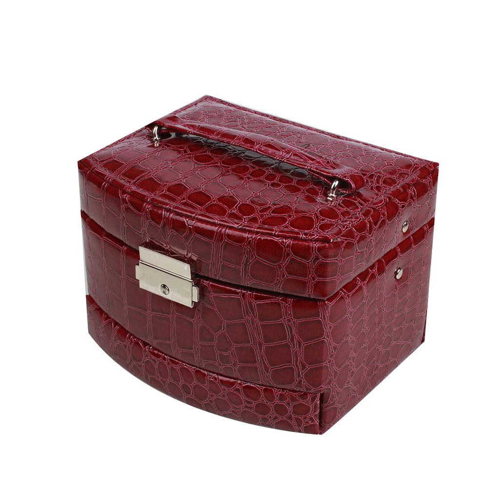 Creative Large Capacity Alligator Print Jewelry Box