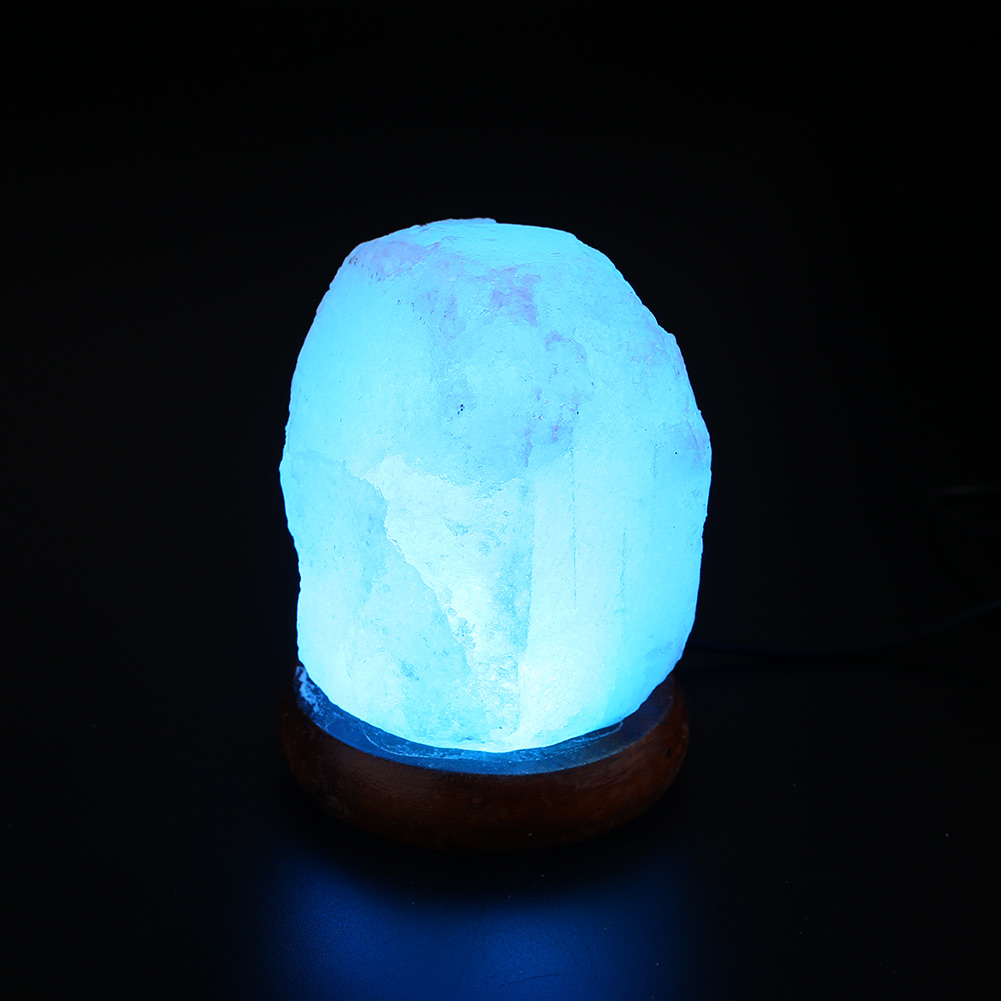 Salt Lamp Crystal Rock Shape Color Changing USB LED Night Lights White Gift eBay