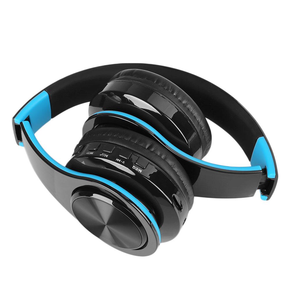 Bluetooth Wireless Headset Over Ear: Stereo Mp3 Bluetooth Headset Wireless Foldable Over-Ear Headphones Earphone TF