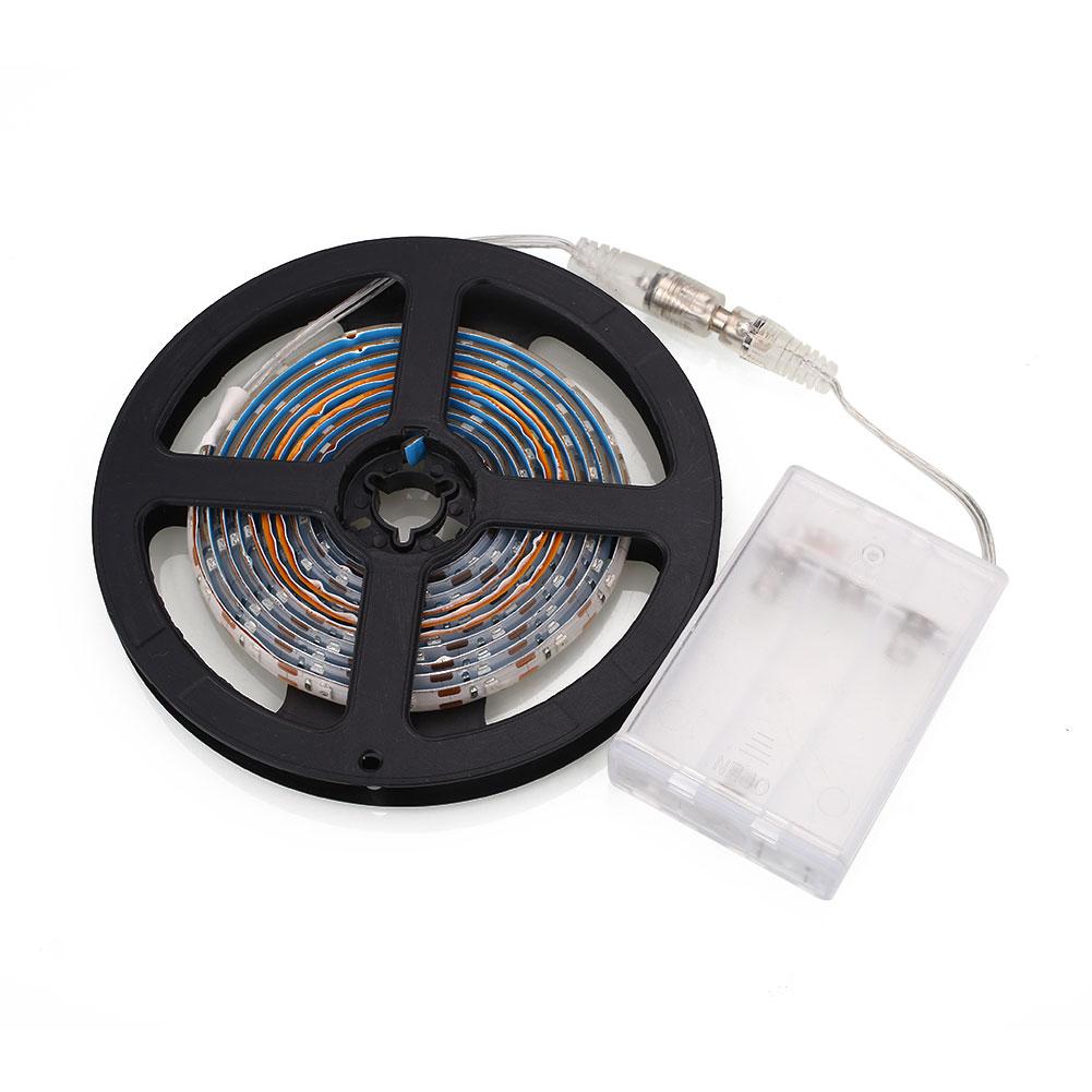 3258 2m led light strip bar battery box powered lamp tv. Black Bedroom Furniture Sets. Home Design Ideas
