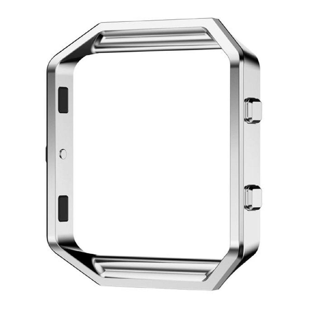 silikon armband uhrenarmband band metall frame f r fitbit blaze tracker strap ebay. Black Bedroom Furniture Sets. Home Design Ideas