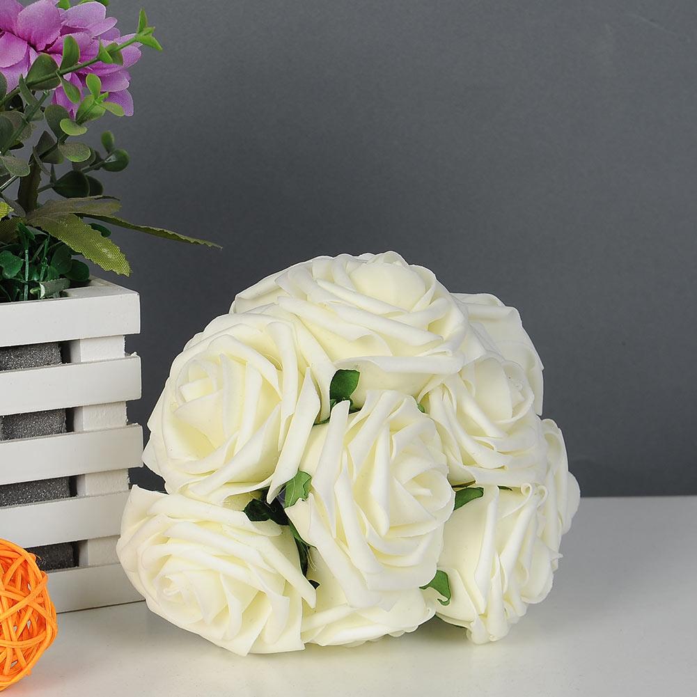 10pcs Quality Artificial Rose Flower Wedding Bridal Bouquet Party Home Decor