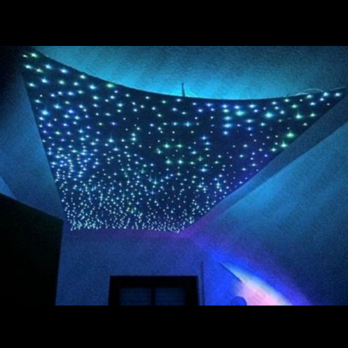 5w rgb led sternen lampe sternenhimmel lichtfaser glasfaser 16farben dimmbar dhl ebay. Black Bedroom Furniture Sets. Home Design Ideas