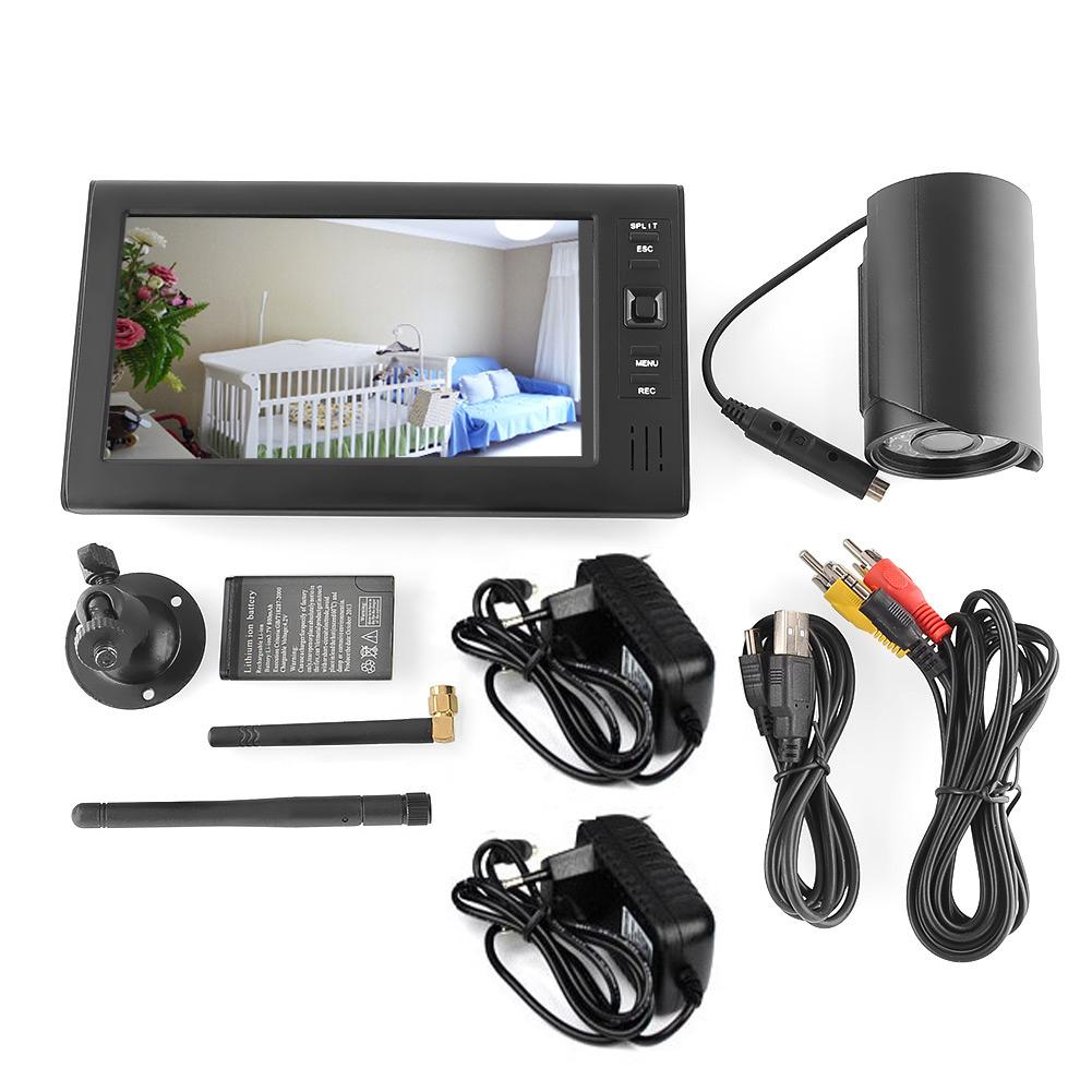 7 4 kanal monitor berwachungskamera sicherheitskamera funk kamera babymonitor ebay. Black Bedroom Furniture Sets. Home Design Ideas