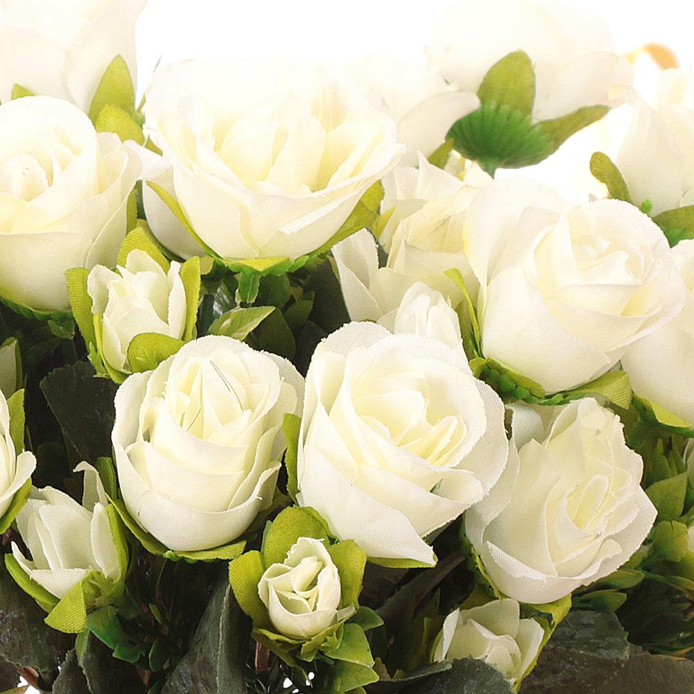 Artificial Silk Flower Fake Bridal Hydrangea Brazil Rose Bouquet Wedding Party