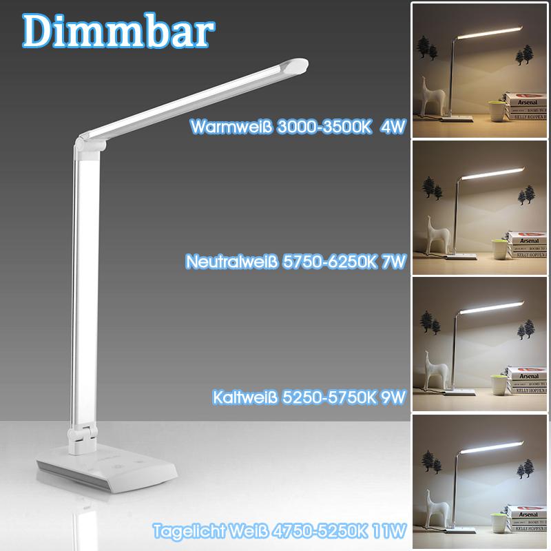 10w led dimmbar schreibtischlampe b rolampe tischlampe tischleuchte blau dhl de ebay. Black Bedroom Furniture Sets. Home Design Ideas
