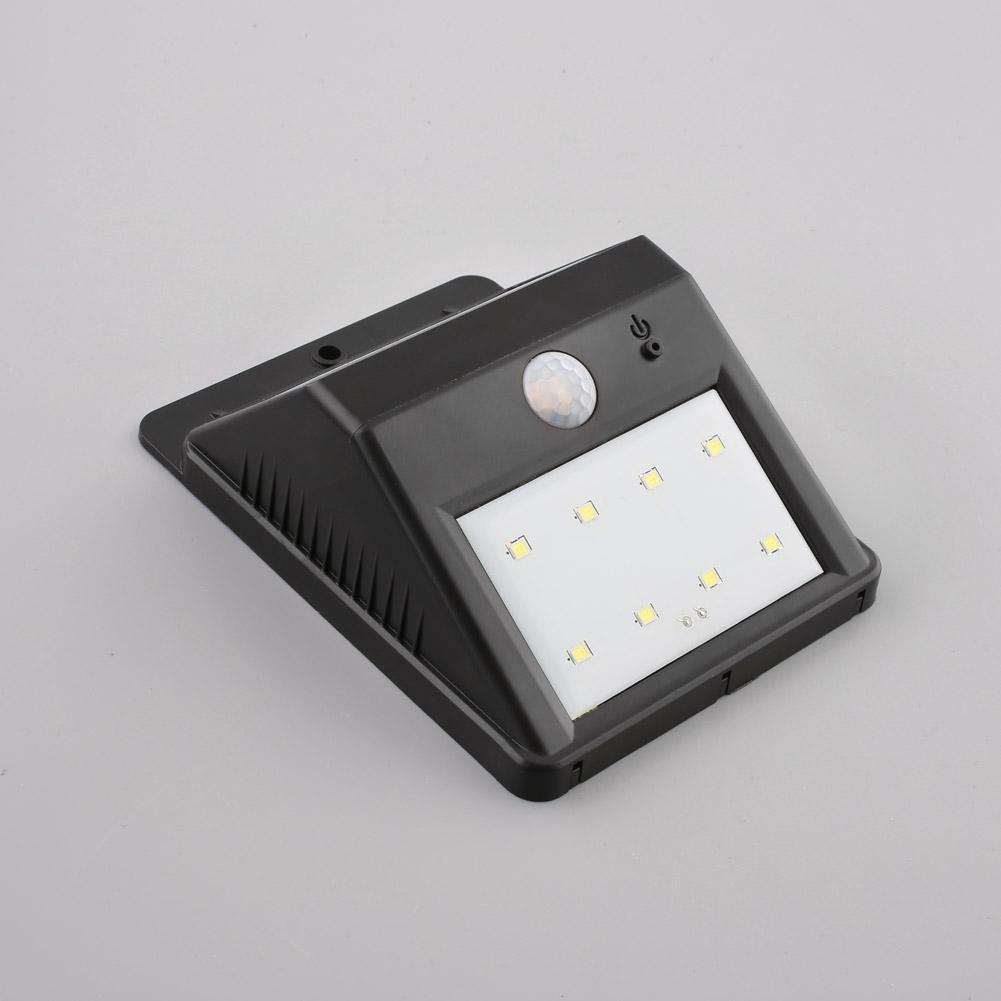 au en solarlampe mit bewegungsmelder 8 led solarleuchte gartenlampe wandlampe ebay. Black Bedroom Furniture Sets. Home Design Ideas