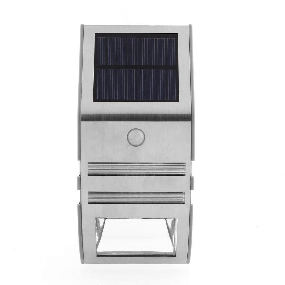 2xsolarlampe solar led au enleuchte wand solarleuchte mit. Black Bedroom Furniture Sets. Home Design Ideas