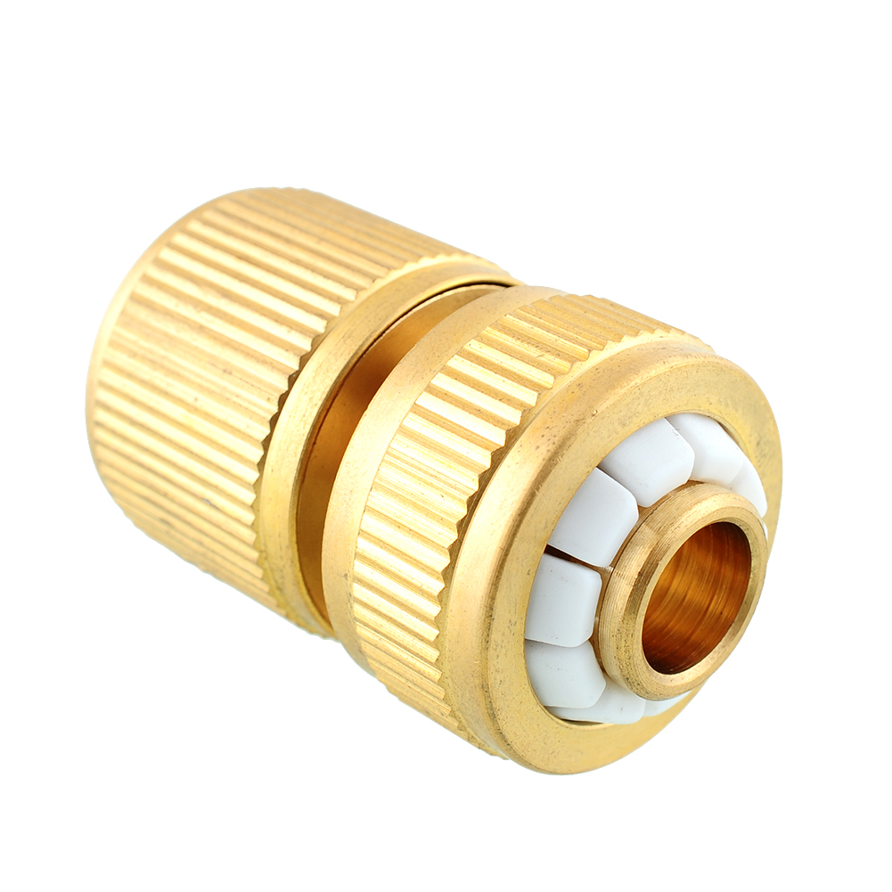 Durable brass threaded hose water pipe connector tube
