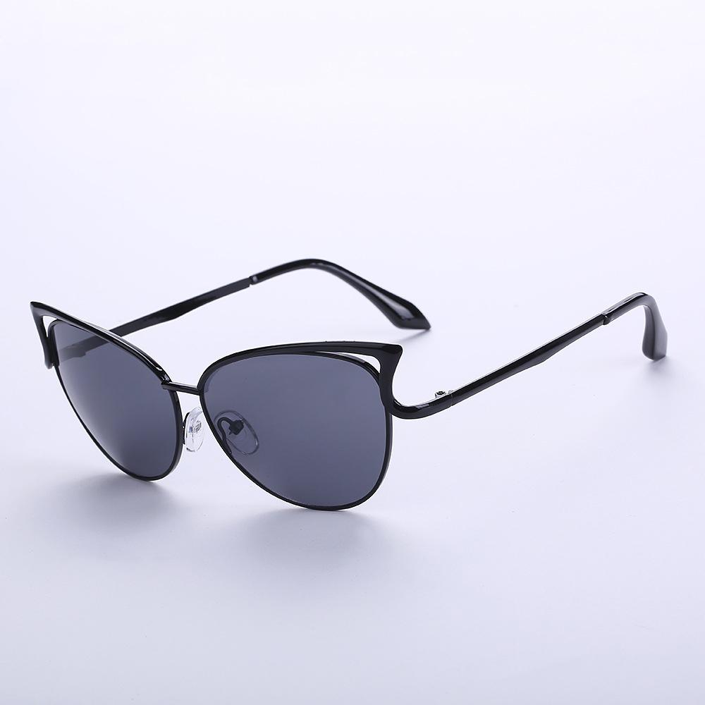 Women Lady Retro Vintage Shades Oversized Frame Cat Eye Sunglasses Glasses