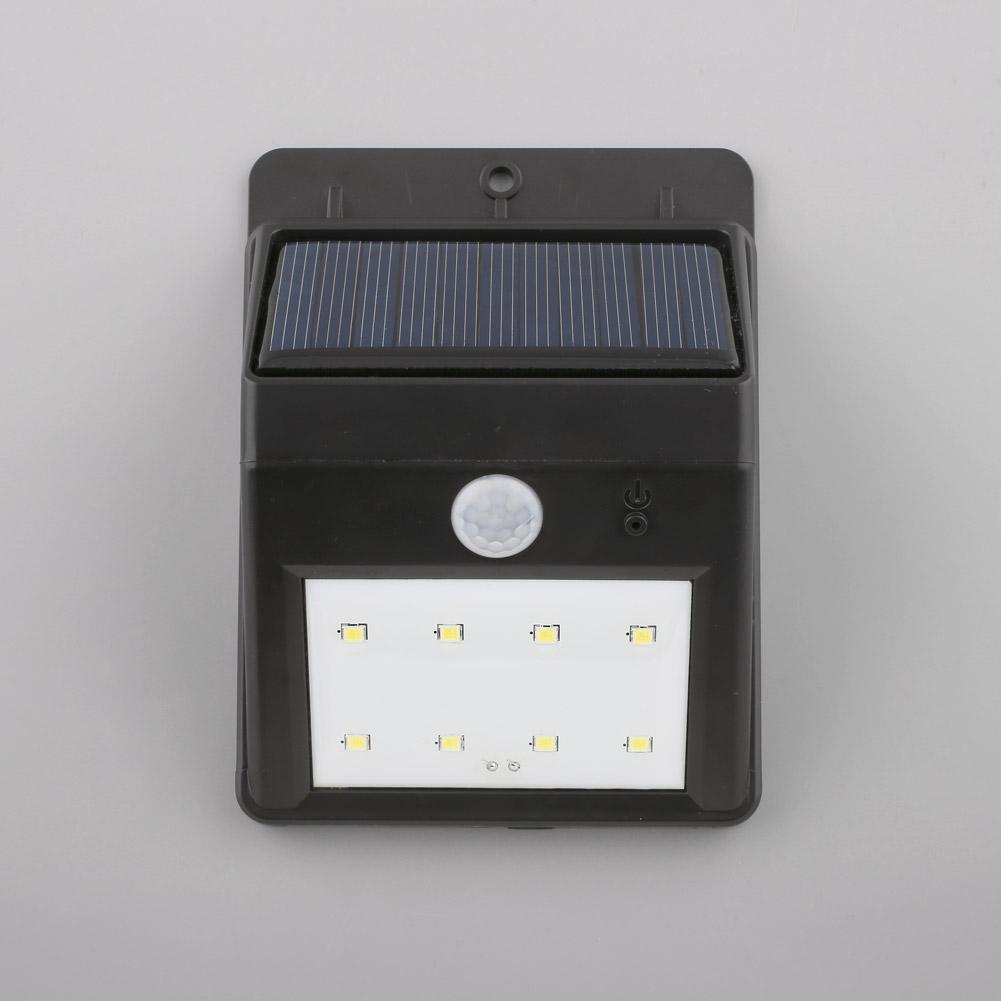 3 au en solarlampe mit bewegungsmelder 8 led solarleuchte. Black Bedroom Furniture Sets. Home Design Ideas