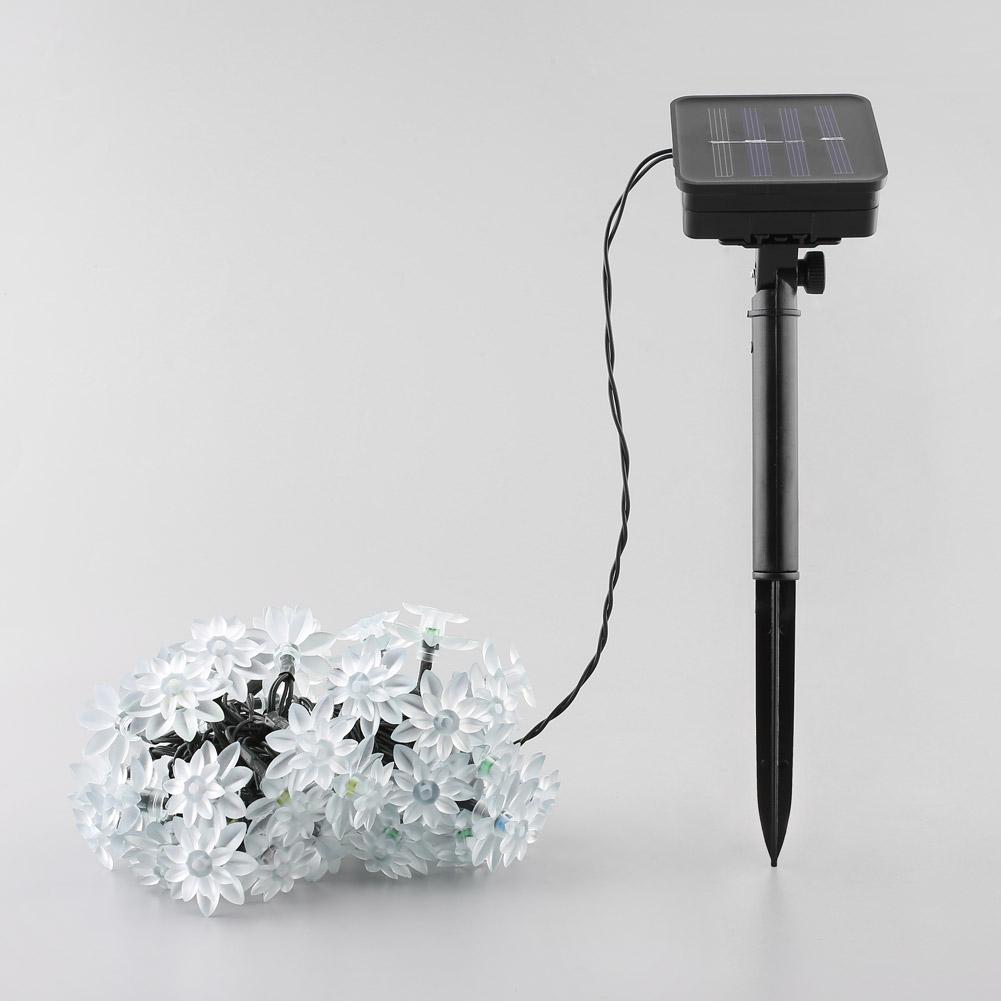 led solar bunt lichterkette gartenbeleuchtung solarlichterkette gatendeko 50 led ebay. Black Bedroom Furniture Sets. Home Design Ideas