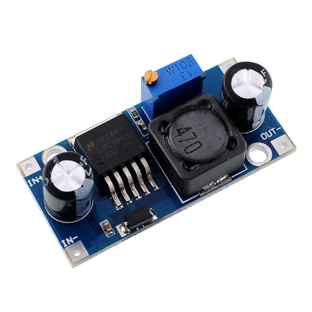 23-30v lm2596 dc-dc adjustable power step-down module 12v to 5v