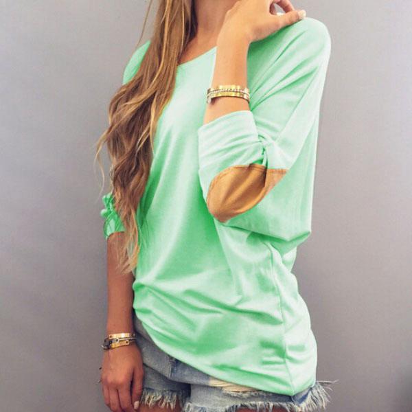 New Women Lady Loose Casual Fashion Long Sleeve Top Blouse Shirt T-Shirt