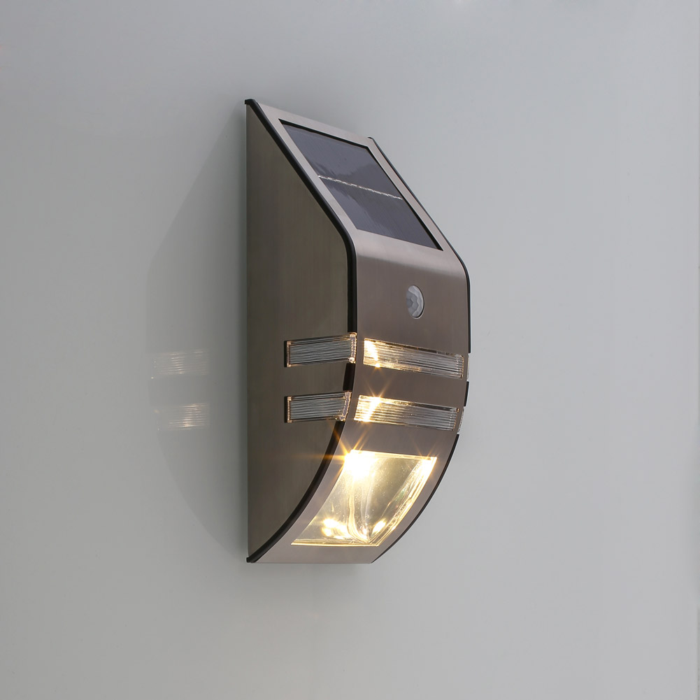 led solarlampe mit bewegungsmelder solarleuchte gartenlampe gartenleuchte au en ebay. Black Bedroom Furniture Sets. Home Design Ideas