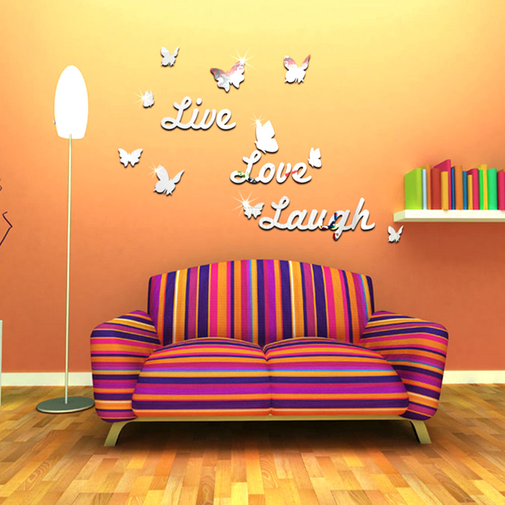 Live laugh love quote vinyl wall decal stickers mirror for Room decor lazada