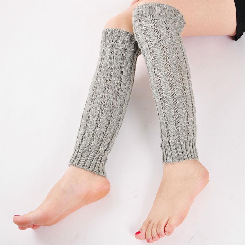 Women Lady Casual Knit Crochet Long Leg Warmers Braid ...