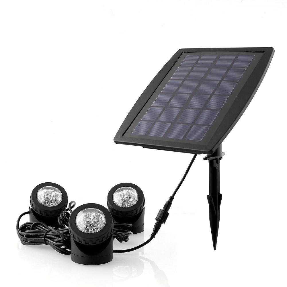 3x led rgb solarstrahler teichleuchte ip68 fluter. Black Bedroom Furniture Sets. Home Design Ideas