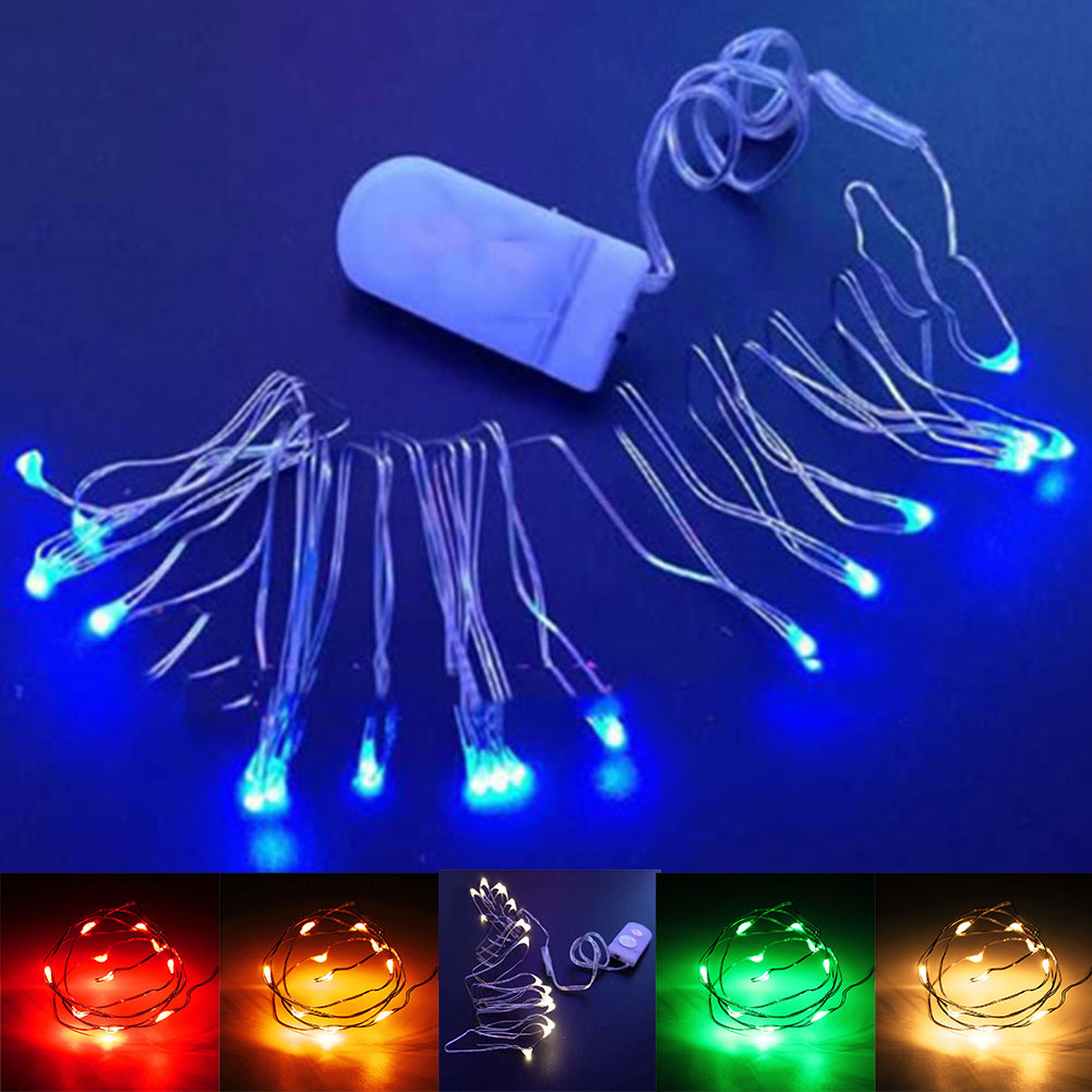 Perfect Holiday 10 LED 1M Battery Operated String Lights Fairy Wedding Christmas eBay