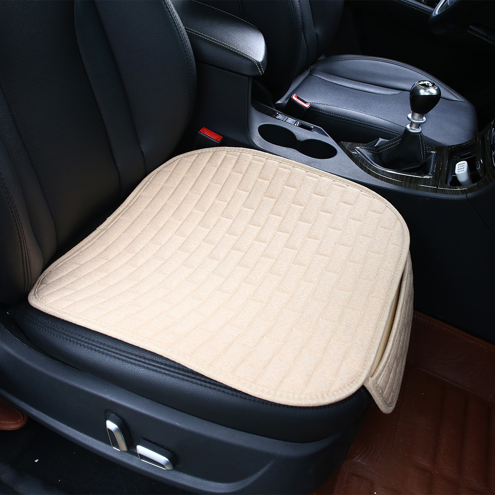 flax auto car interior front seat cover home office chair cushion mat pad. Black Bedroom Furniture Sets. Home Design Ideas