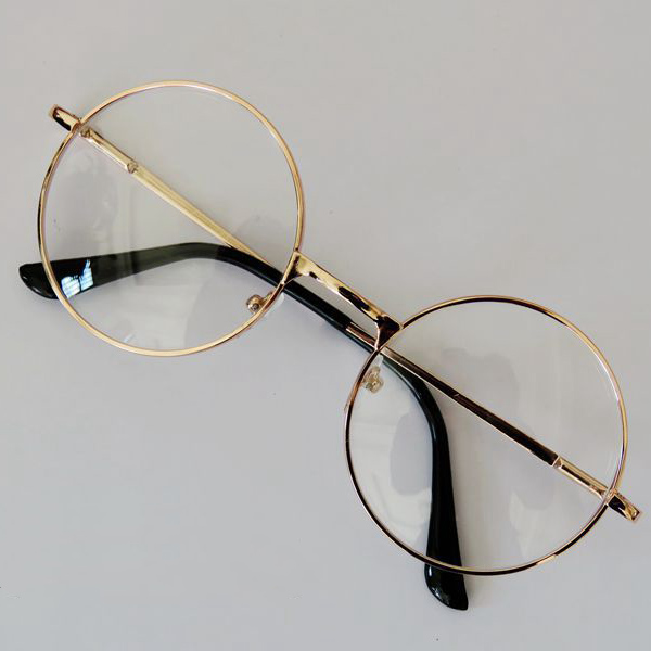 Wire Frame Glasses In Style : Fashion Retro Round Circle Metal Frame Eyeglasses Original ...