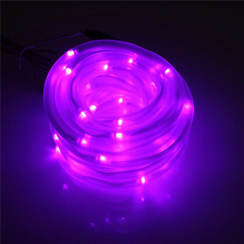 50-LED Solar Rope Flexible Tube Strip Light String Auto Control IP68 Garden eBay