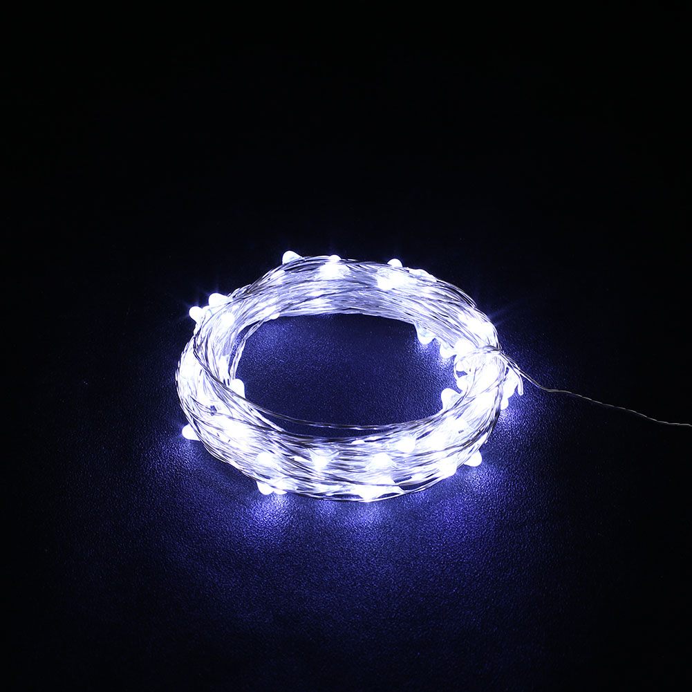 10m usb christmas copper cord 100 led string light. Black Bedroom Furniture Sets. Home Design Ideas