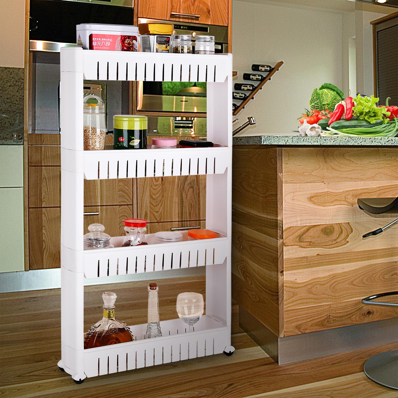 4 ablagen nischenregal nischenwagen aufbewahrung. Black Bedroom Furniture Sets. Home Design Ideas