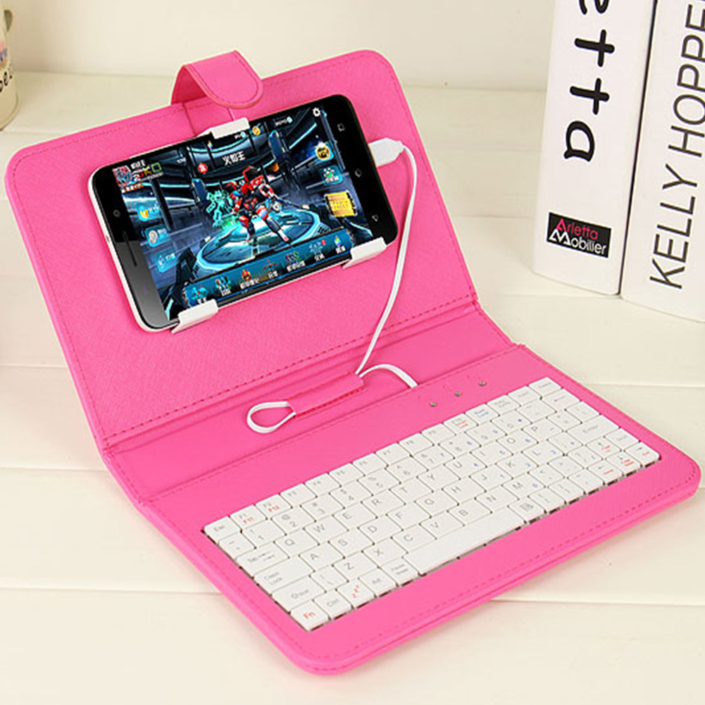 wired keyboard flip holster case cover skin protector for andriod mobile phone ebay. Black Bedroom Furniture Sets. Home Design Ideas