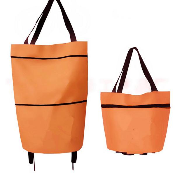 travel portable foldable shopping bag on wheels cart rolling tote handbag ebay. Black Bedroom Furniture Sets. Home Design Ideas