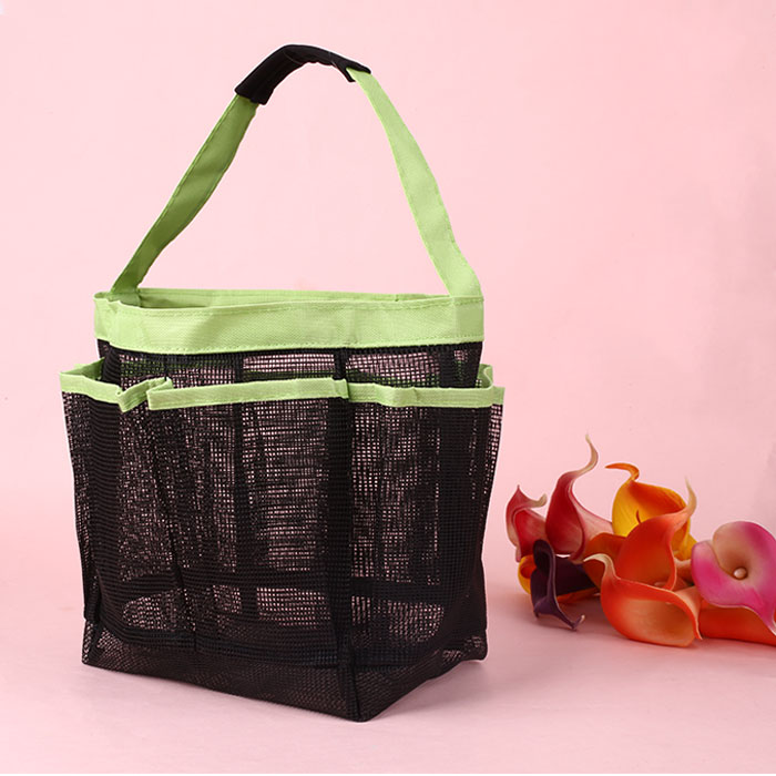 Dorm Bathroom Caddy: 8 Pockets Tote Handle Dorm Shower Caddy Mesh Bathing