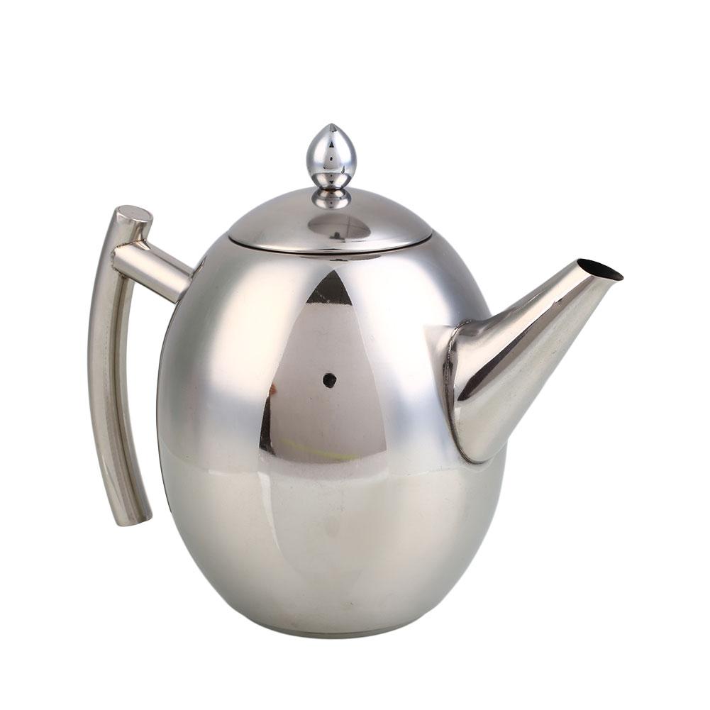 ll stainless steel teapot coffee pot filter strainer home  - llstainlesssteelteapotcoffeepot