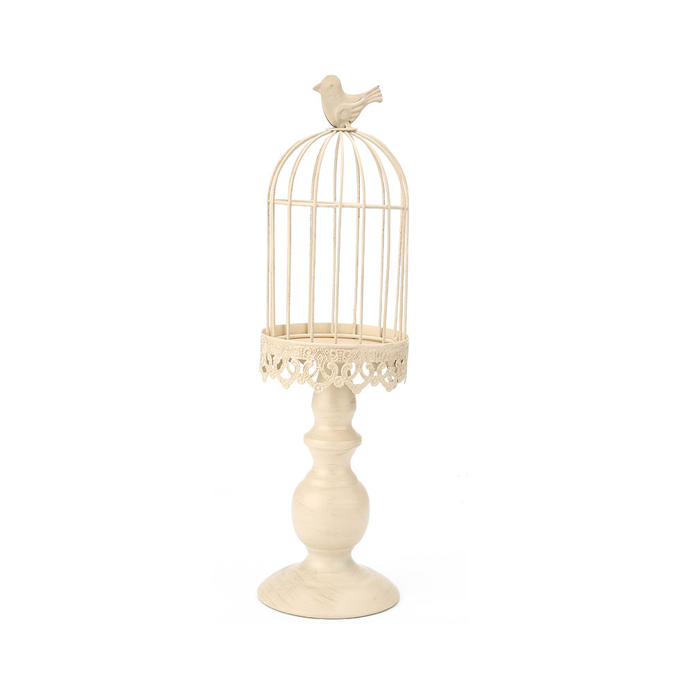 romantic european birdcage glass tea light candle holder stand party supplies. Black Bedroom Furniture Sets. Home Design Ideas