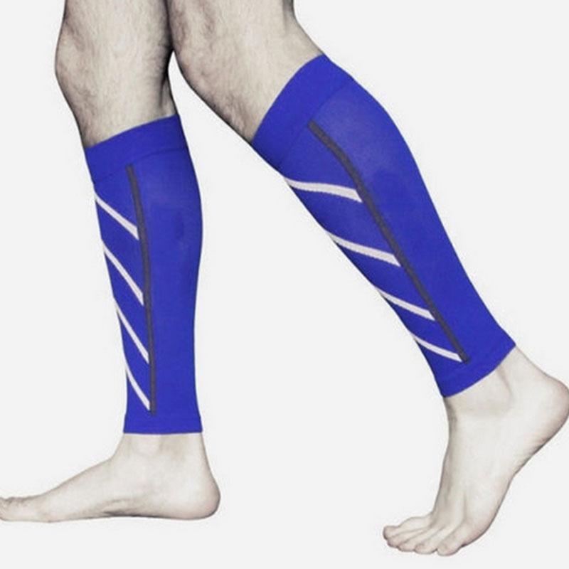 Pair Calf Support Compression Leg Sleeve Running Shin ...