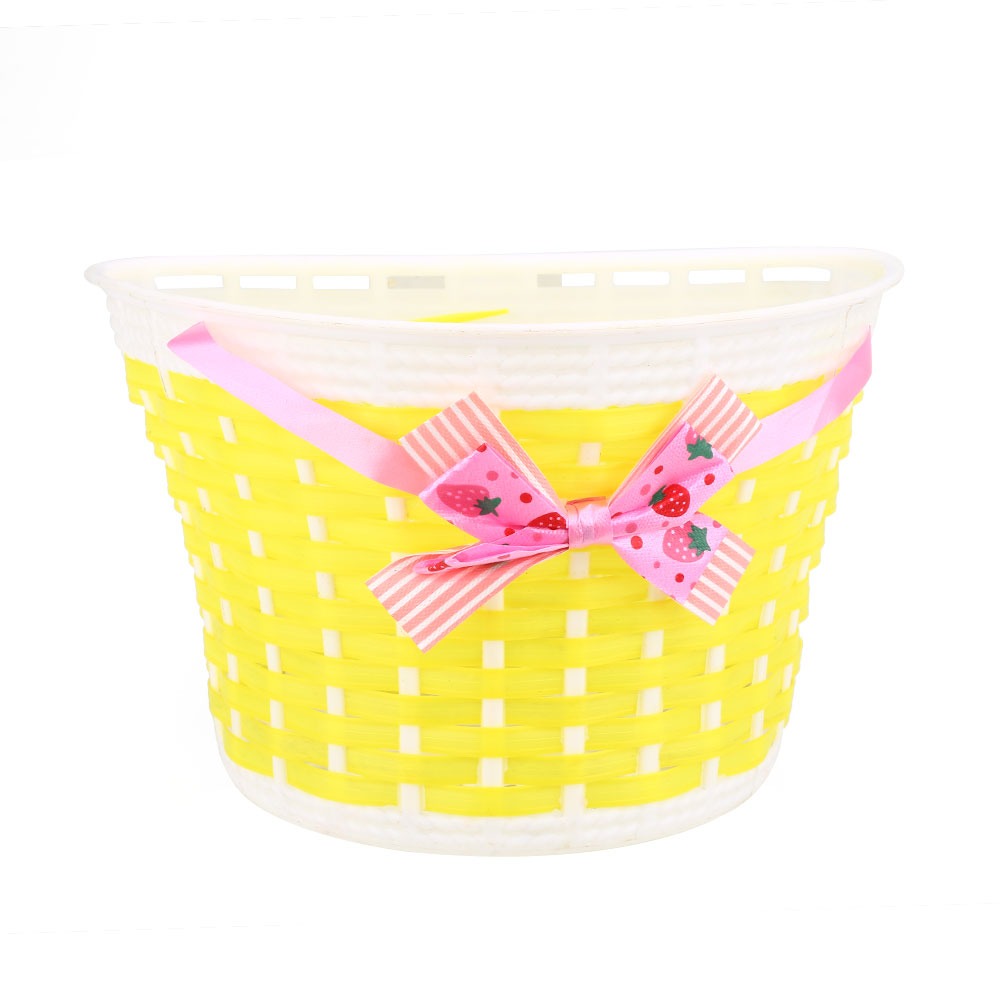 91BE-Outdoor-Bicycle-Bags-Panniers-Bike-Bowknot-Front-Basket-For-Children-Girl